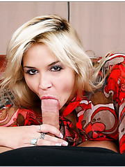 Dazzling blonde Sarah Vandella shows an awesome fuck and gets pleased