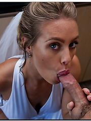 Charming bride Nicole Aniston having sex with her husband's friend