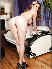 Erotic redhead Faye Reagan making a marvelous deepthroat for her friend