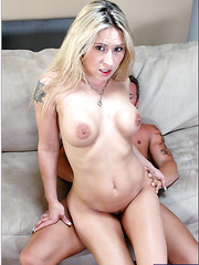 Cute babe Rebecca Steele prefers making blowjobs and riding hard dicks