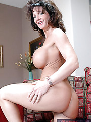Sweet mature slut Deauxma is riding huge cock and receiving facial