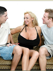 Group sex with fabulous mature babe Echo Valley and her two friends