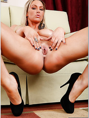 Outstanding milf babe Abbey Brooks is riding big cock in her leaving room