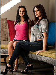 Stunning milf model Ava Addams is having awesome threesome with Raylene
