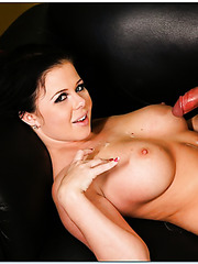 Big tits milf beauty Loni Evans is enjoying the taste of a fresh cum