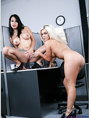 Threesome fuck with amazing porn models Christa Moore and Gianna Lynn