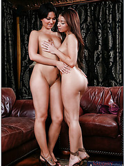 Skinny milfs Ann Marie Rios and Crissy Moon are receiving a facial