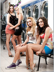 Group sex with Bobbi Starr, Breanne Benson, Gracie Glam and Lexi Belle