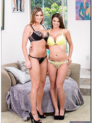 Threesome action with busty models Brianna Brooks and Brooklyn Chase