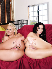 Stunning milf babes Jayden Jaymes and Phoenix Marie having threesome sex