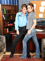 Perfect lesbian sheriff Lexi Stone has sweet time with hot Mikayla Hendrix