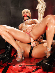 Mysterious scene with busty ladies Lea Lexis and Tory Lane got a strapon