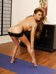 Asian milf Charmane Star demonstrates a crazy and a hardcore yoga classes