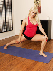 Lesbian yoga classes with gorgeous milfs named Charmane Star and Lea Lexis