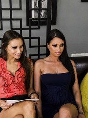Passionate lesbian threesome with horny girls named Celeste Star, Daisy Lynn and Raven Bay