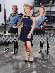 Greatest threesome with naughty lesbians named Abbey Brooks, Nikki Benz and Phoenix Marie