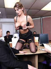 Lovely MILF Katerina getting a good cumshot on her big and delicious boobs