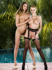 Sweet MILFs Jessie Andrews and Joslyn James having some hardcore lesbian sex