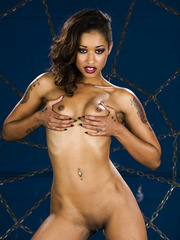 Hot MIlf Skin Diamond showing her shaved cunt and tiny tits today