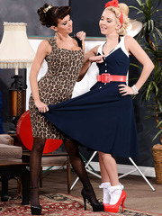 Vintage MILF's Aaliyah Love and Veronica Avluv having some good time