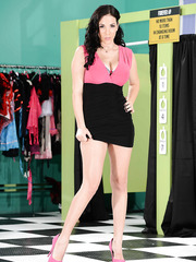 Winsome brunette MILF Jelena Jensen showing her amazing looks and posing