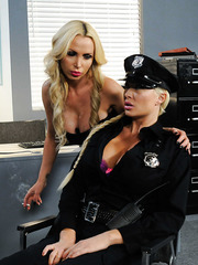 Hot and horny blonde MILF's Nikki Benz and Summer Brielle having sex