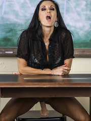 Sexy and hot MILF's with Ava Addams fucking hard in the classroom