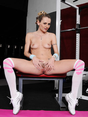 Natasha Starr is the kind of MILF that likes to visit a gym naked