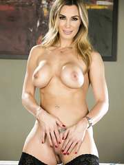 Super hot MILF's Julia Ann and Tanya Tate showing their huge boobs