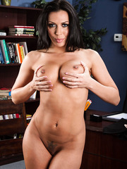 Marvelous Rachel Starr showing her nice ass and her bit tits on camera