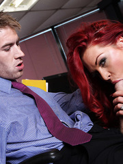 Flawless redhead Paige Delight getting nailed and fucked extra deep