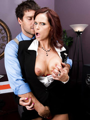 Spicy and horny babe Syren De Mer is one professional cock sucker