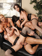 Four absolutely outstanding pornstars are banging in this insane group action