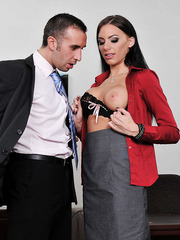 Juelz Ventura and Riley Evans are two hardcore dick-loving secretaries mils