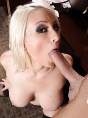 Hardcore Lexi Swallow is getting cum in her mouth after nice hardcore sex