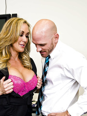 Hardcore milf Brandi Love is banging in missionary pose after titjob