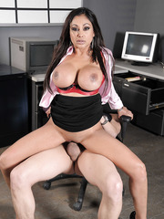 MILF Priya Anjali Rai being fucked in doggy style pose right on the office table