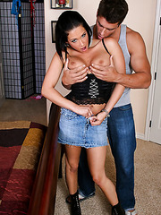 Nasty bitch Tory Lane working with a big cock and getting an anal drill