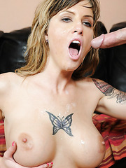 Gorgeous Tricia Oaks demonstrates big ass and enjoys a big yummy wiener