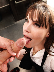 Foxy milf Dana DeArmond gets dirty with her friend and enjoys his huge dagger