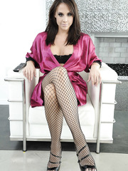 Gorgeous milf Chanel Preston making a deepthroat and getting a double penetration