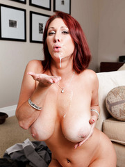 Stunning maid Tiffany Mynx playing with a young cock and making a blowjob