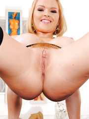 Rough milf Krissy Lynn showing juicy ass and spreading tight vagina