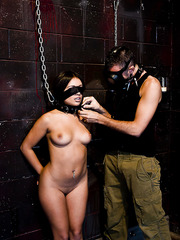Nasty slut Jynx Maze getting chained and drilled hard in all possible holes