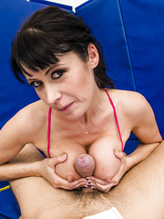 Rough fighter Eva Karera likes to work with big cocks and get cumshots at the end