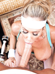 Demonic blonde Brandi Love likes to be nailed after a hard workout