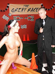 Chanel Preston and Kortney Kane getting penetrated after a tough race