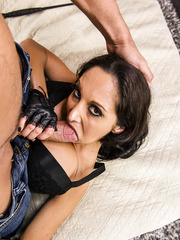 Hardcore brunette milf with huge tits Ava Addams takes in her elegant asshole