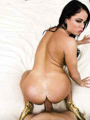 Crazy hot brunette woman Nikki Delano takes a fat aggregate in the asshole
