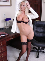 Busty sales manager Nikki Benz shows off the secrets of her successful career